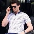 Dos homens novos camisas de manga curta polo 2017 moda verão impressão plus size business casual polo camisas dos homens men m ~ 3xl c15d8112