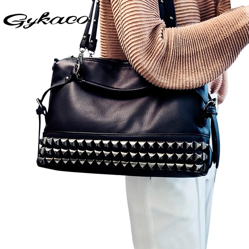 Women Luxury Handbag Designer Handbags High Quality Rivet Tote Bags Handbags Women Famous Brands Ladies Bags 2017 Bolsa Feminina excelsior famous designer brand fashion canvas women bags messenger ladies handbag high quality linen bags bolsa feminina bolsos