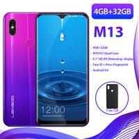 Original LEAGOO M13 Android 9.0 Smartphone 19:9 6.1 Screen 4GB RAM 32GB ROM MT6761 Quad Core Fingerprint Face ID 4G Mobile
