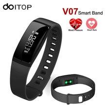 DOITOP Sensible Wristband V07 Sensible Band Blood Strain Coronary heart Price Monitor Health Tracker Bracelet Name SMS Alert For IOS Android
