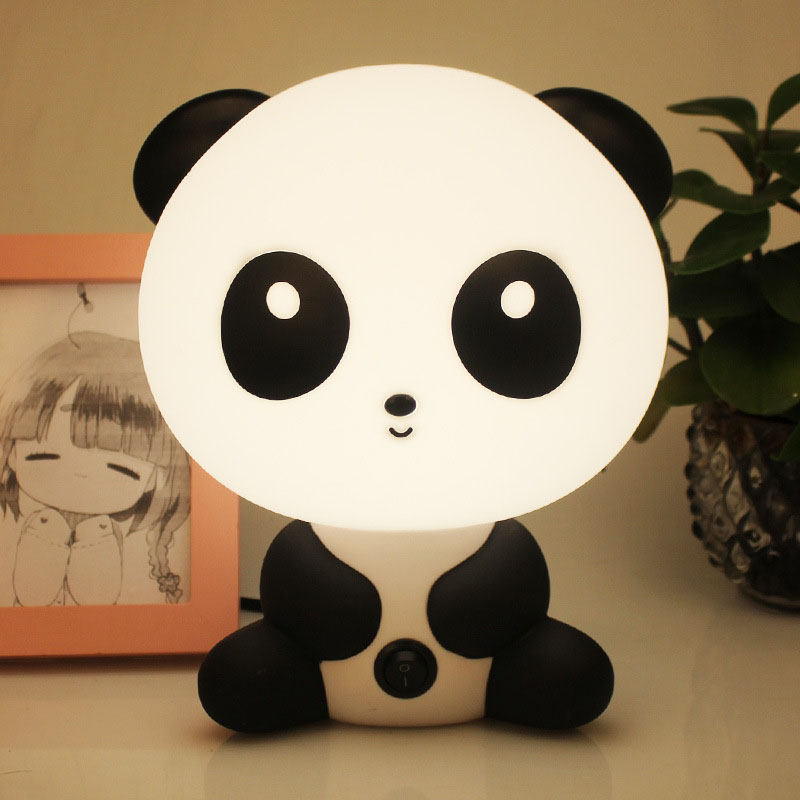 Panda Night Light Baby Bedroom Lamps Night Light Cartoon Pets Panda Unicorn Sleep Led Kid Lamp Bulb Table Lamps For Children Gif