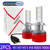 white car H4 LED H7 Headlight Bulbs Super Bright CSP Chips Lamp H1 H8 H9 H11 9005 HB3 9006 60W 6000LM 12V 6000K White LED Car light (1)