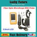 Conector De Fibra Óptica de fibra Óptica Del Microscopio Inspección Sonda de Inspección de fibra óptica de Vídeo y Pantalla 250X