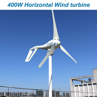 New 400W 12v 24v 48v wind generator wind turbine with 3 blades or 5 blades or home use