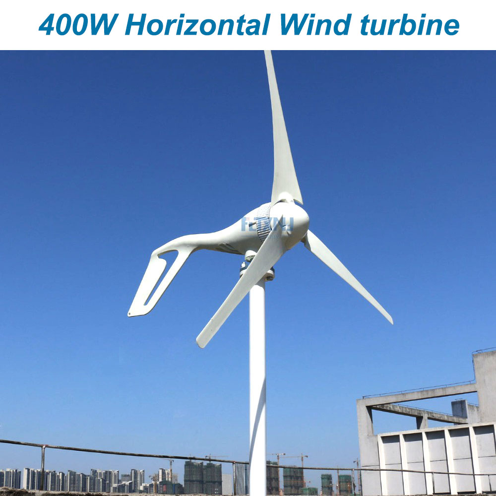 Nouvelle éolienne de générateur de vent de 400 W 12 v 24 v 48 v avec 3 lames ou 5 lames ou usage domestique