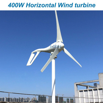 Nuevo 400 W 12 v 24 v 48 v generador de viento turbina de viento con 3 cuchillas o 5 cuchillas o uso en el hogar