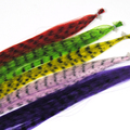 10pcs Assorted Color Synthetic Grizzly Fibre / Fiber Fly Tying Material Buck Tail Streamers Saltwater Flies Pink Green Yellow