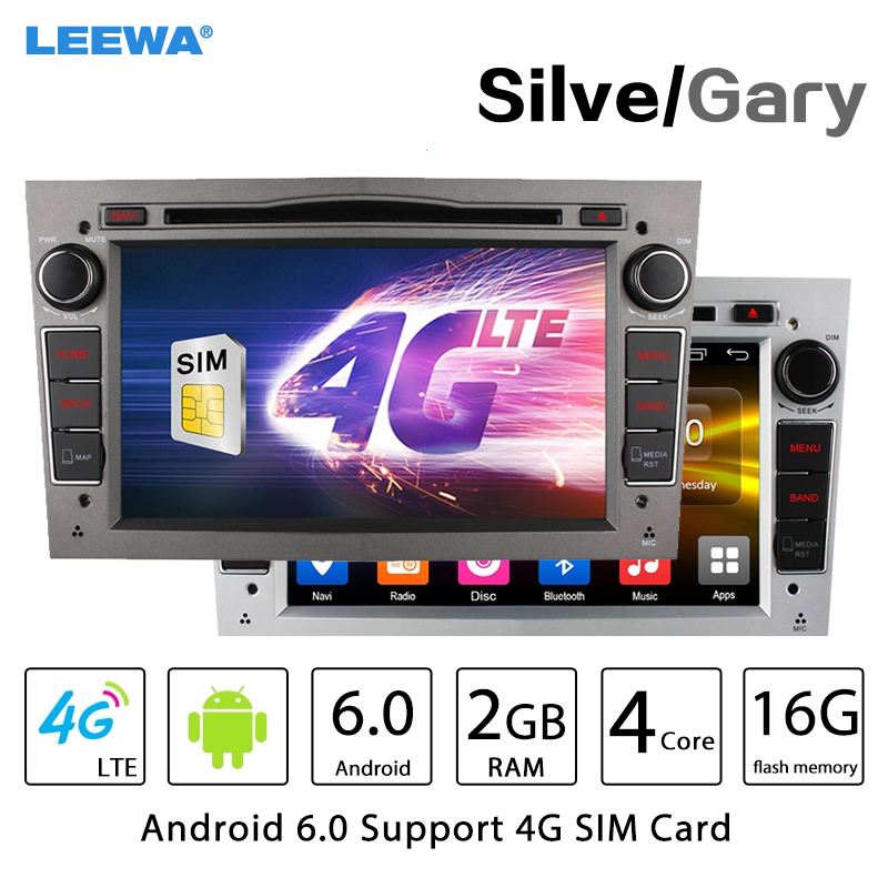 7″ Silver Panel Android 6.0 (64bit) DDR3 2G/4G LTE Car DVD GPS Radio Head Unit For Opel Combo/Utility/Vivaro/Meriva (2006~2010)