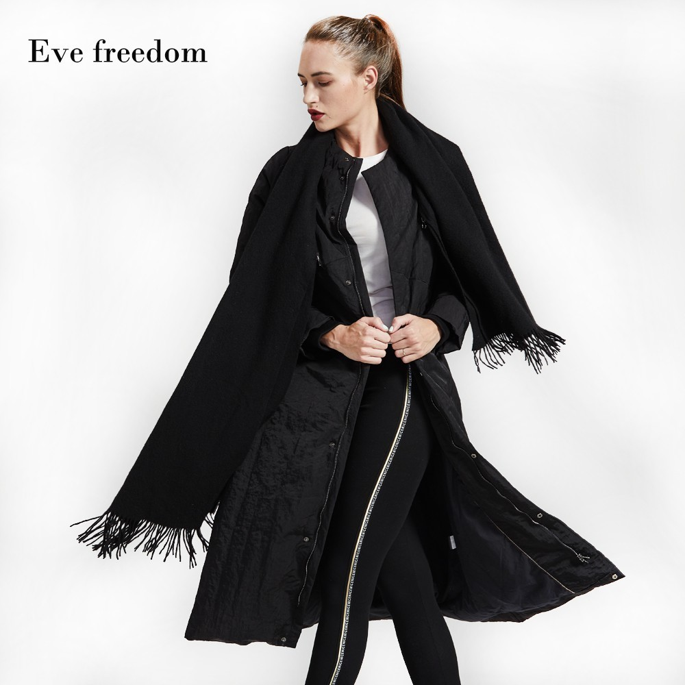 Down   jacket women for winter 2018 loose   down     coat   Eva Freedon brand   Down   Jacket for women long   down   Jacket woman large size18969