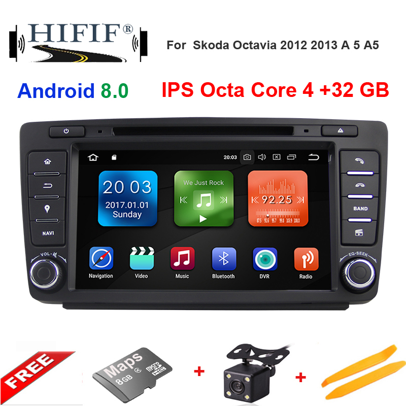 8 IPS Idoing 2din Android8.0 Octa Core Car Navigation System 4G+32G Built in Canbus Wifi Bluetooth Disc For VW Skoda Octervia