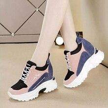 جديد إمرأة فلكنيز أحذية النساء أحذية رياضية ربيع الخريف موضة السيدات حذاء خفيف امرأة جلد منصة حذاء رياضة الإناث W4