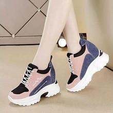 NEW Women Vulcanize Shoes Women Sneakers Spring Autumn Fashion Ladies Causal Shoes Woman Leather Platform Shoe Female Sneaker W4
