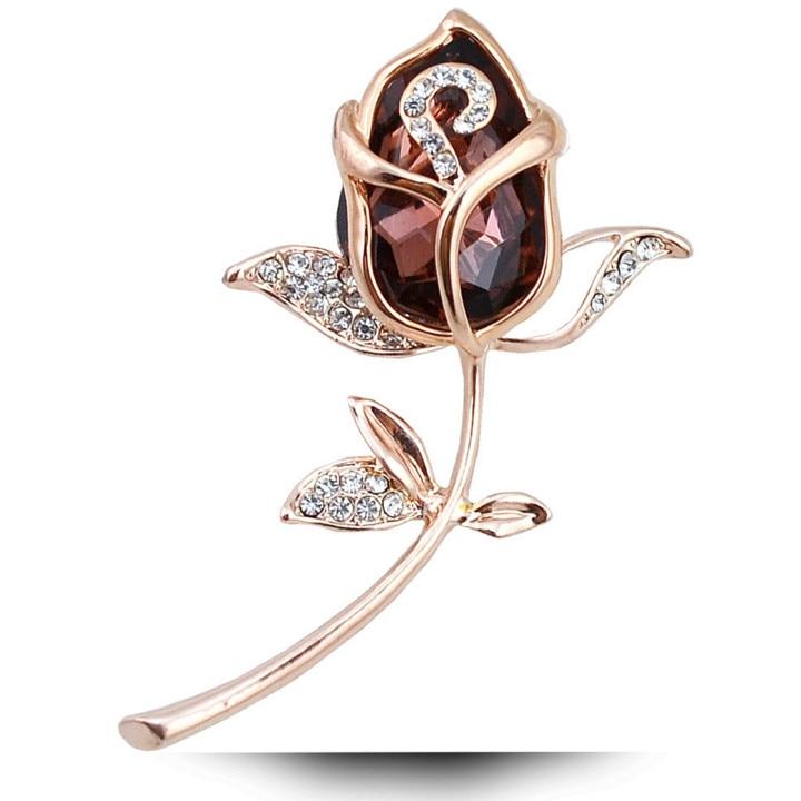Broške CINDY XIANG Crystal Rose za ženske Elegantne broške in - Modni nakit - Fotografija 2