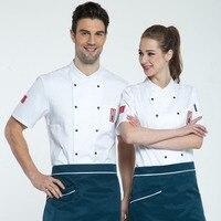 Hotel chef short sleeve men and women models chef overalls summer restaurant hotel chef overalls