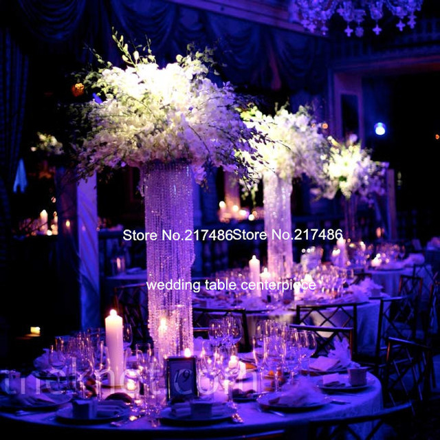 Hot Selling Spiral Hanging Crystal Table Centerpieces For Wedding ,Party  Decoration
