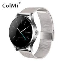 Colmi K88H Bluetooth SmartWatch сердечного ритма Мониторы удаленного Камера сообщениях толчка для Android iso MTK2502C Смарт-часы