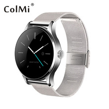 ColMi K88H Smartwatch Bluetooth Heart Rate Monitor Remoto Cámara Mensajes de Inserción Para Android ISO MTK2502C Reloj Inteligente