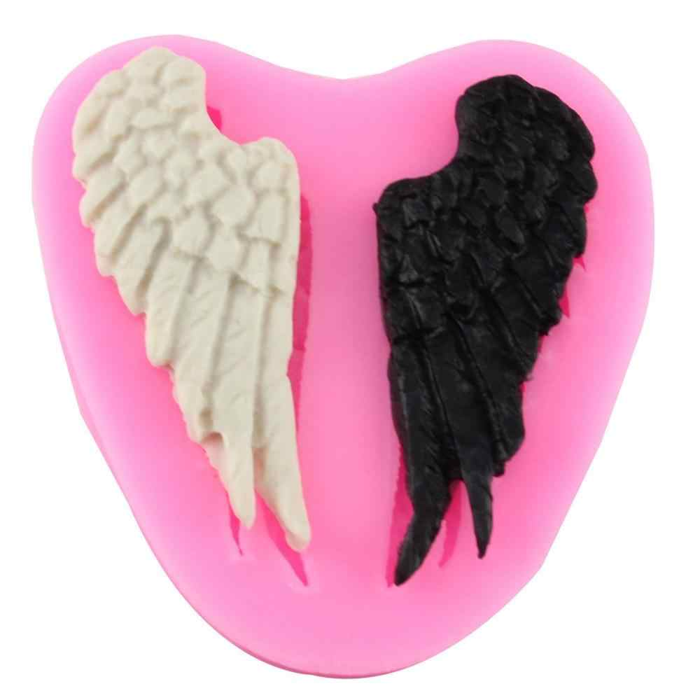 Angel Wings Chocolate Mold Silicone Fondant Mould Diy Decorating Baking Tools Portable Durable Safety Molds