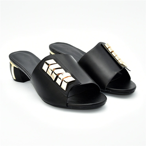 Image 2 - New Arrival Designer Shoes Women Luxury 2019 Nigerian Women Wedding Shoes Decorated with Rhinestone Ladies Sandals with Heels