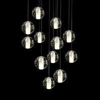 ZX Hot Sale Crystal Glass Ball Pendant Lamp Meteor Rain Meteoric Shower Stair Bar Droplight E14