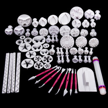 70 pieces plastic fondant plunger cutters,christmas fondant cake decorating tools,cake mold,cookie cutter,cake decoration