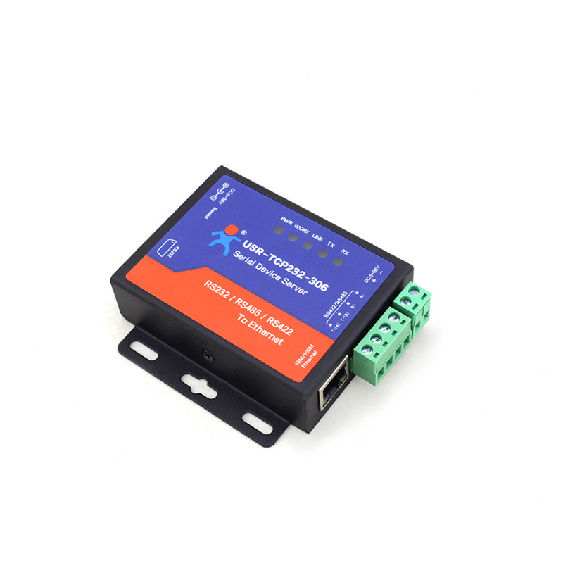 Low Cost Industrial Serial To Ethernet Server Support RS232/485/422, Serial Device Server For IOT Such As Electric Power