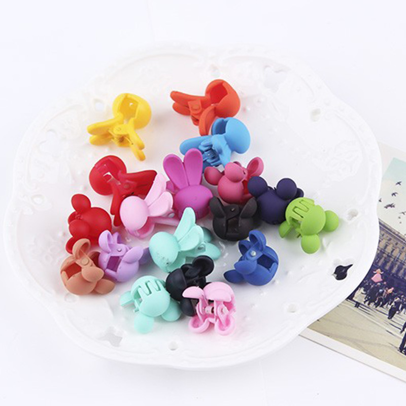 New Cute Small Cartoon Hair Claws Rabbits&Mickey Hairpins Kids Hair Clip Hairgrips Headbands For Little Girls Hair Accessories jrfsd metal cute hair clip hairpin hairgrips flower hair headband kids hair accessories for women