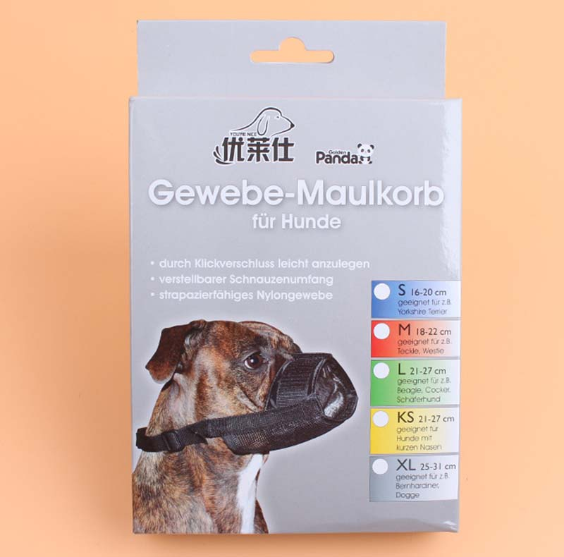 SYDZSW Superior Quality Dog Muzzle Breathable Mesh Black Nylon Pet Muzzle for Dog Puppy Dog Mask Prevent Bark Bite Pet Products10