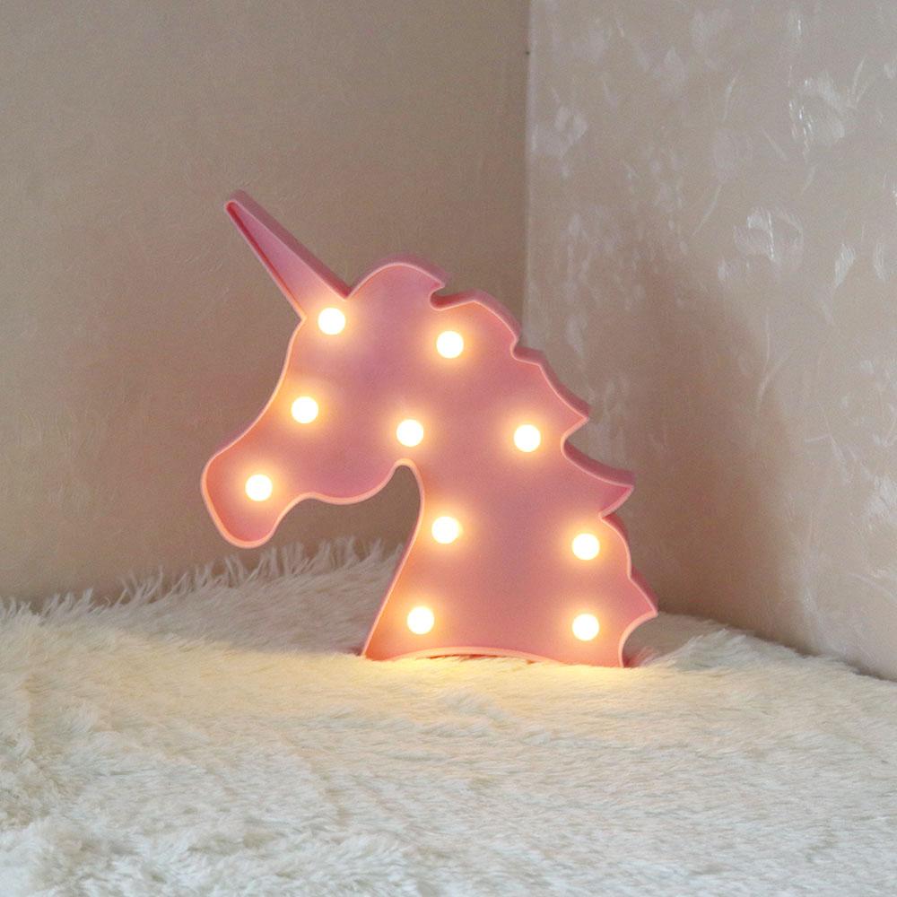 Online Shop LED Flamingo Unicorn Night Lights Cactus Cloud Table ...