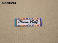 98 Custom Labels Custom Clothing Labels Name Tags Text Boxes White Organic Cotton Iron TB039