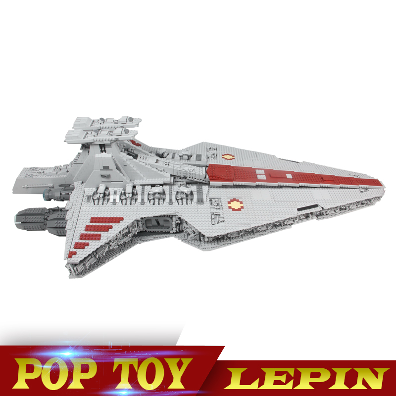 N STOCK 05077 6125Pcs Gift The UCS Rupblic Star Destroyer Cruiser ST04 Set Building Blocks Bricks Toys lepin 05077 star series war genuine the ucs rupblic star set destroyer cruiser st04 set building blocks bricks for boy gift toy