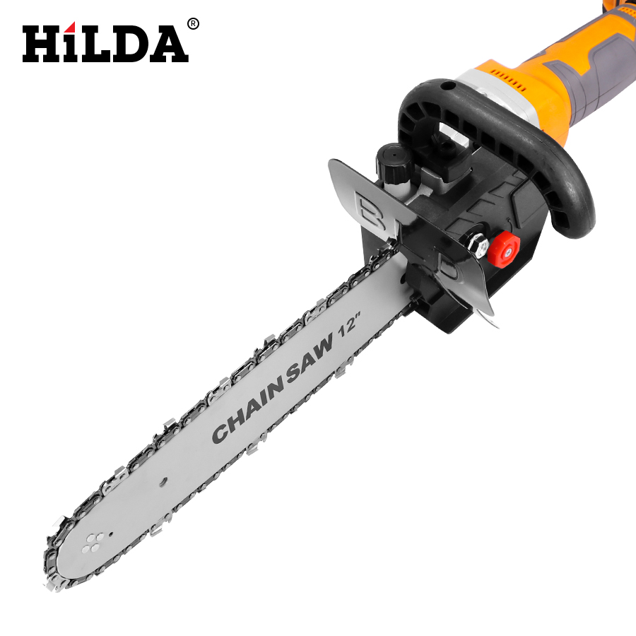 HILDA Multifunction Electric Chain Saw Adapter Converter Bracket DIY Set For 12'' Electric Angle Grinder Woodworking Tool