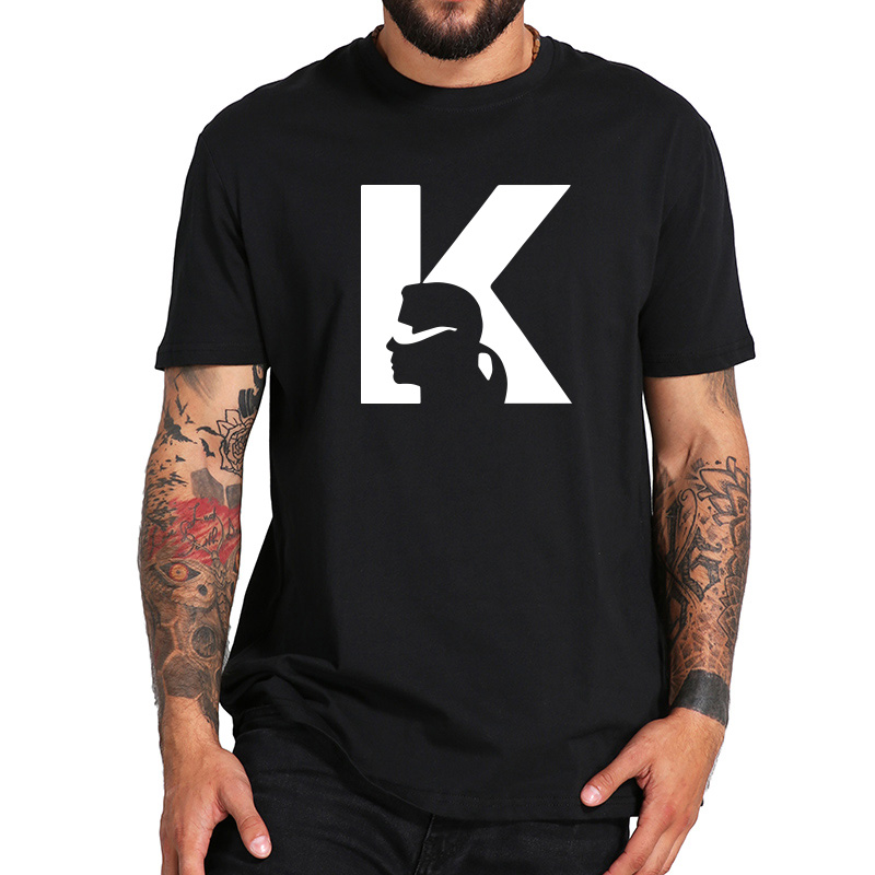 Karl Lagerfeld   T     Shirt   Fashion Representative Image Outline Design Tees Short Sleeve EU Size 100% Cotton Casual   T  -  shirt   Homme