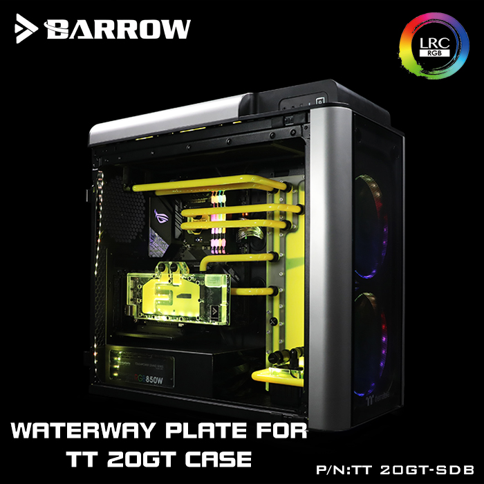Barrow TT-20GT-SDB, Waterway Boards For TT LEVEL 20GT Case, For Intel CPU Water Block & Single/Double GPU BuildingBarrow TT-20GT-SDB, Waterway Boards For TT LEVEL 20GT Case, For Intel CPU Water Block & Single/Double GPU Building