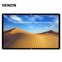 120 дюймов 16:9 экран для проектора портативный проектор экран складной проекционный экран передний задний для домашнего кинотеатра открытый