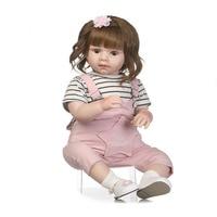 NPK 70 см Reborn Baby Doll Мягкие силиконовые реалистичные куклы с комбинезоны для малышек высокое класс моделирование пупсик фотография Реквизит д