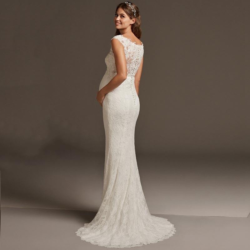 women pregnant Wedding Dresses Sweetheart  (6)