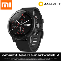 Original Huami Amazfit Smartwatch 2 Running 4GB ROM Xiaomi Chip Alipay Payment 50m Waterproof Bluetooth Anti