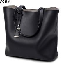 ICEV brand new top handle bag female black big tote bags han