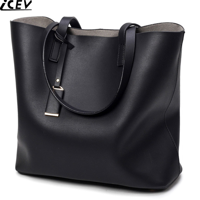 7de93be34a9 ICEV gloednieuwe top handvat tas vrouwelijke zwarte grote tassen handtassen  vrouwen beroemde merken grote capaciteit zachte