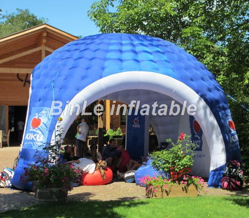 Professional high quality advertising promotion trade show booth spider dome xgloo event inflatable tent 5mD david booth display advertising an hour a day