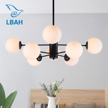 Nordic chandelier living room modern simple restaurant creative magic beans personality bedroom household lamps ceiling light modern nordic simple personalized creative lamps nordic restaurant bedroom living room metal material iron