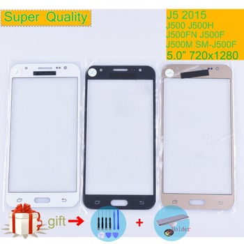 For Samsung Galaxy J5 2015 J500 J500H J500FN J500F J500M SM-J500F Touch Screen Front Glass Panel TouchScreen LCD Outer Lens 5.0 image