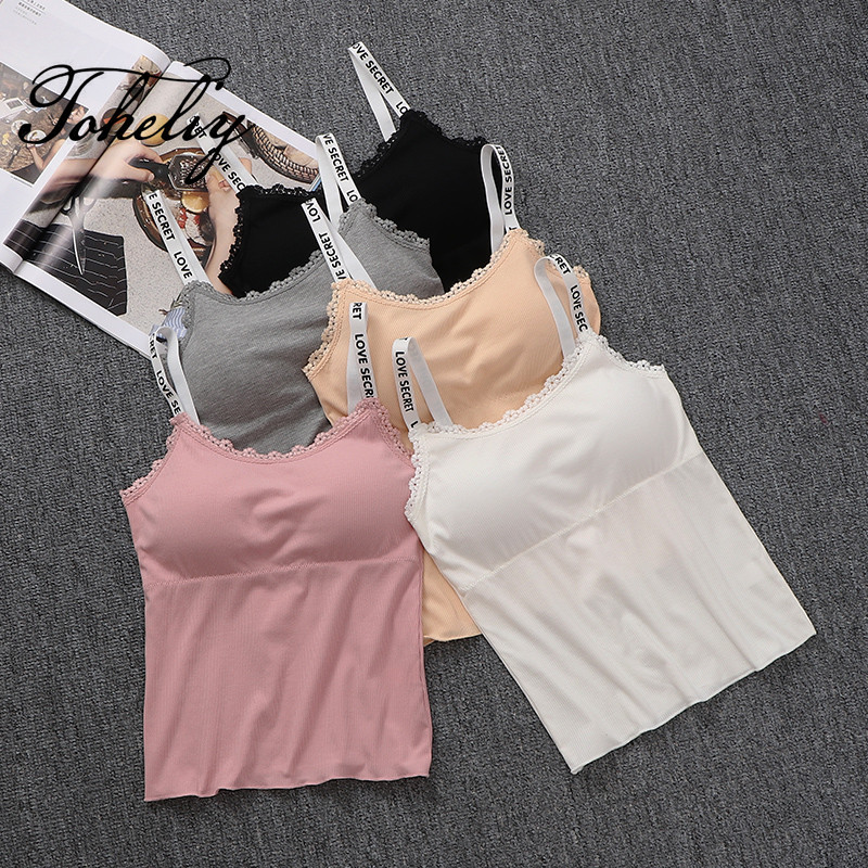 New style white letters long sling back small vest anti bra girl sexy  underwear bra students 70553dae4