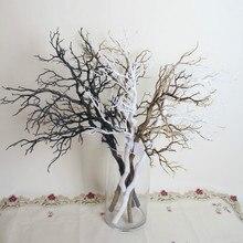 3 шт. 94 см длинные Искусственные черные белые ветви деревьев пластиковые сушеные ветви деревьев искусственные цветы для украшения дома и свадьбы
