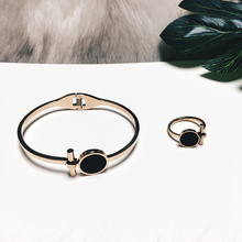 ФОТО western style hot sale fashion jewelry set titanium steel rings& bracelets valentine's day gifts personality girls accessories