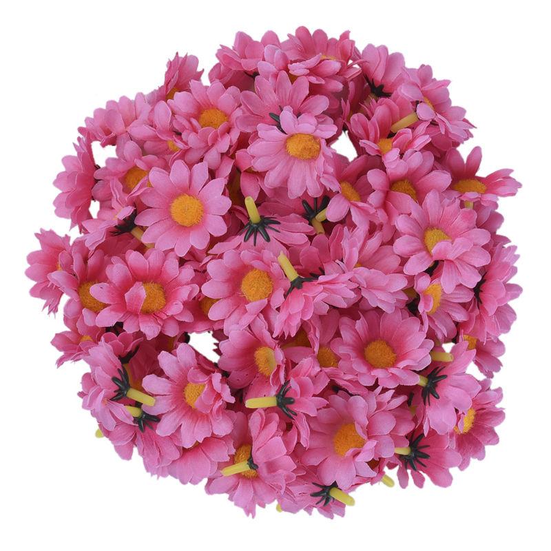 100 Unids / lote Seda Crisantemo Handmake Cabeza de Flor Artificial - Para fiestas y celebraciones - foto 4