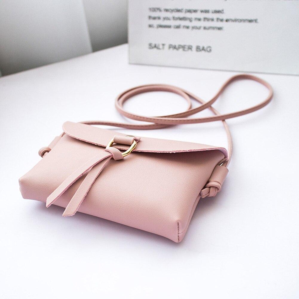 Women  Messenger Crossbody Bags Small Mini Shoulder Bag Sling PU Leather Phone Holder Handbag Purse LT88