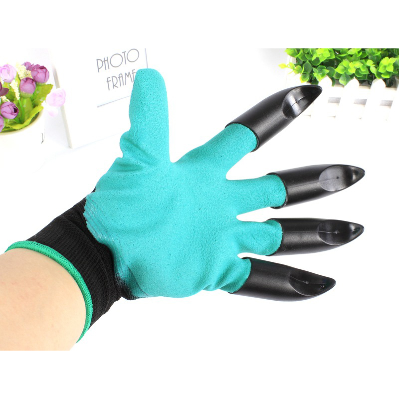 2017 Hot Sale 1 pair New Gardening Gloves for garden Digging Planting with Plastic Claws Quick Easy to Dig and Plant Aug22