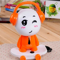 Cute Creative Skateboard Boy Shape Colorful Bedside Lamp Childrens Night Lamps With Cord DJ Boy Kids
